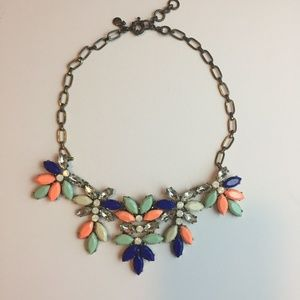 #1062 Jcrew Cluster Multi-colored Floral Necklace
